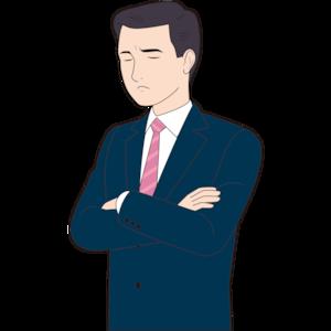 考え込む男性営業マン