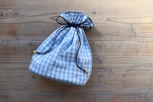 チェック巾着ポーチ 大サイズ