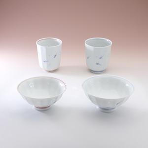 ホタルメダカ 飯碗(大・小) 湯呑(大・小)