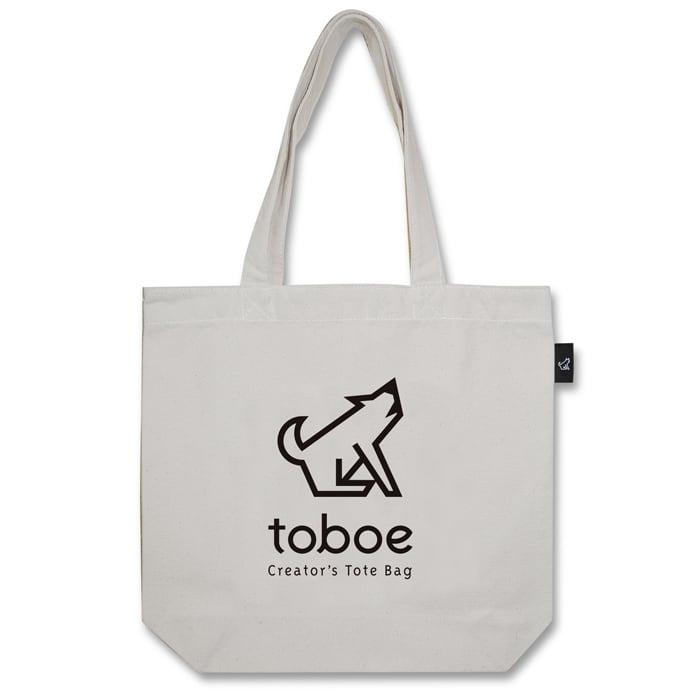 toboe ロゴタイプ トートバッグ (M:内ポケット付き)品番:iwa-m-04