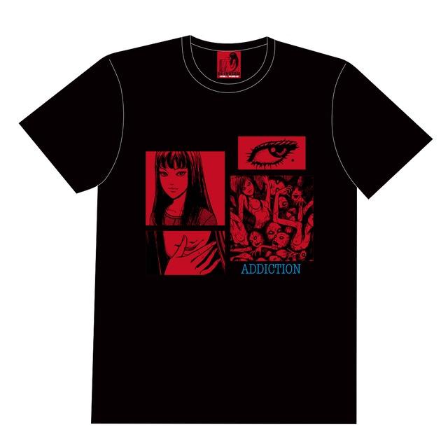 〈伊藤 潤二〉ADDICTION Tシャツ(富江) BLACK