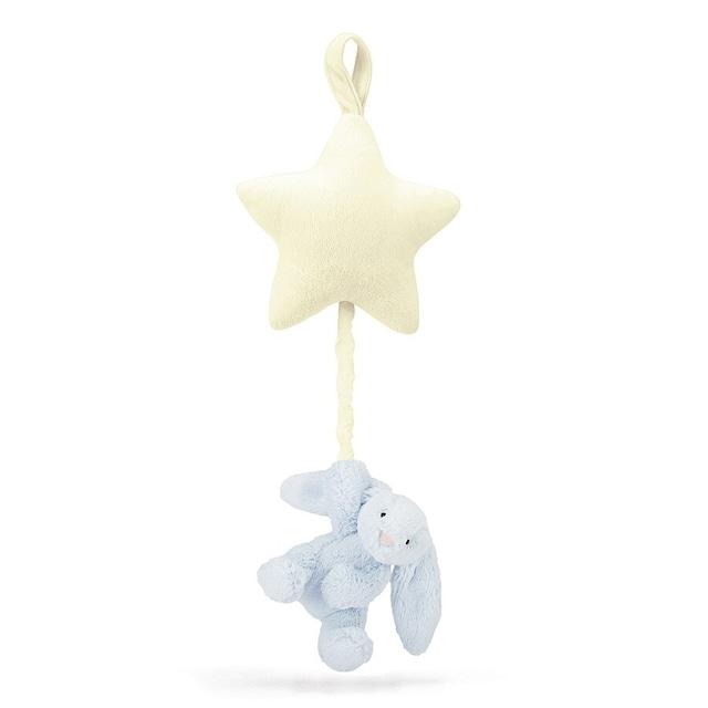 Bashful Blue Bunny Star Musical Pull_BAMS4BBL