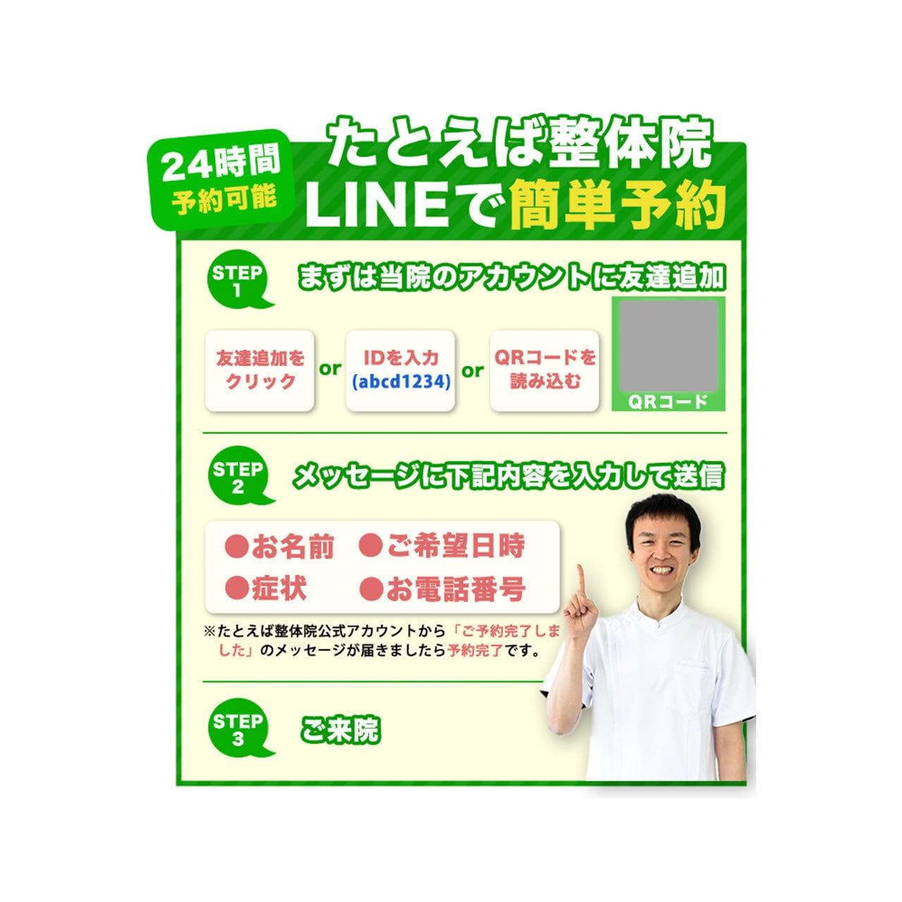 オリジナル「LINE予約手順」
