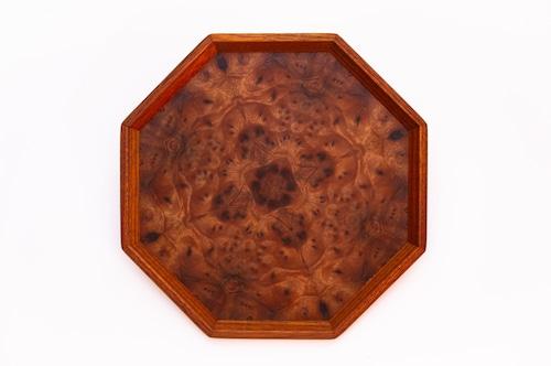楠瘤 八角形のトレー OBKB-0308