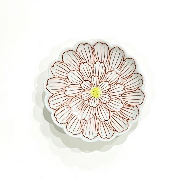 錦牡丹 菊型3寸小皿
