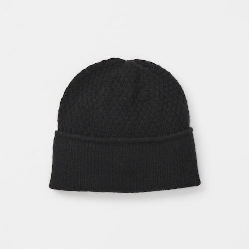 mature ha./knit cap/black