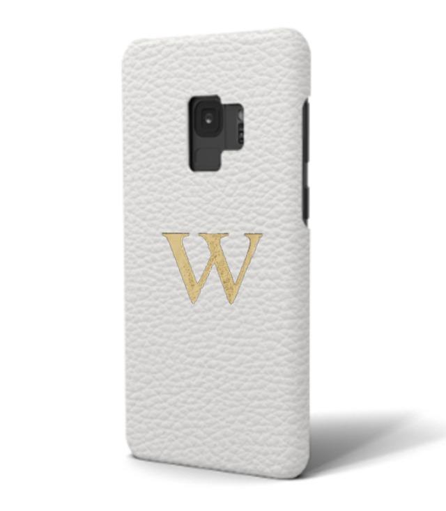 Galaxy Premium Shrink Leather Case (Milk White)