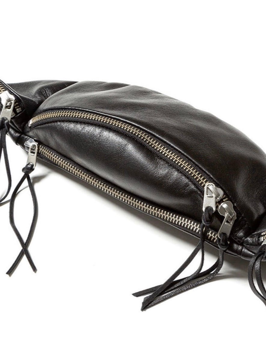 【FILL THE BILL】LEATHER WAIST BAG