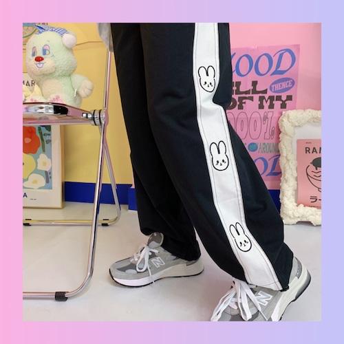 【お取り寄せ】うさちゃん ジャージ パンツ 3色
