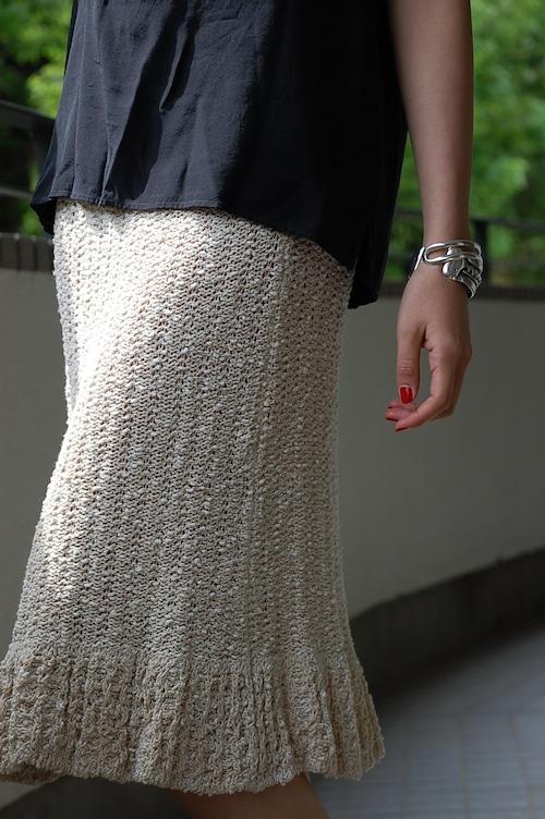 1970s Crochet  hand knitting skirt