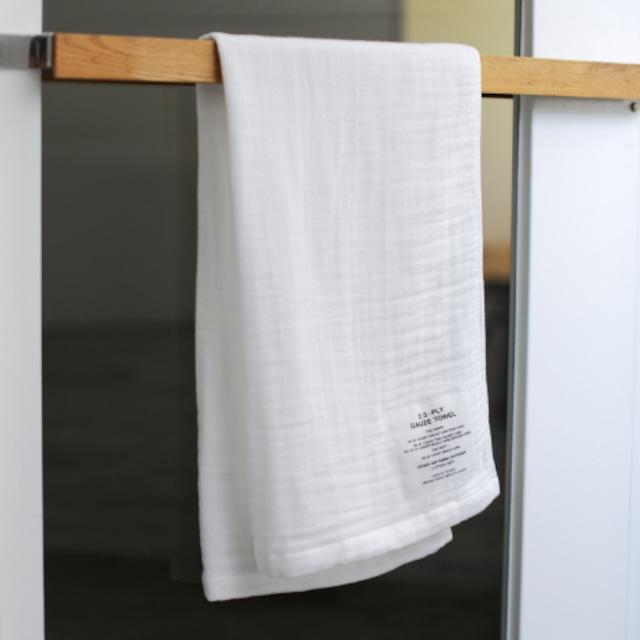 SHINTO TOWEL - 2.5重ガーゼ ホワイト/バスタオル(M)