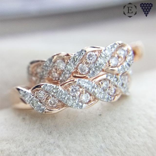 合計 0.16ct アーガイル ピンク ダイヤモンド 14K ピアス