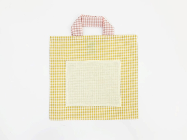 Small Yellow Bag Check Fabric / Poetic Pastel