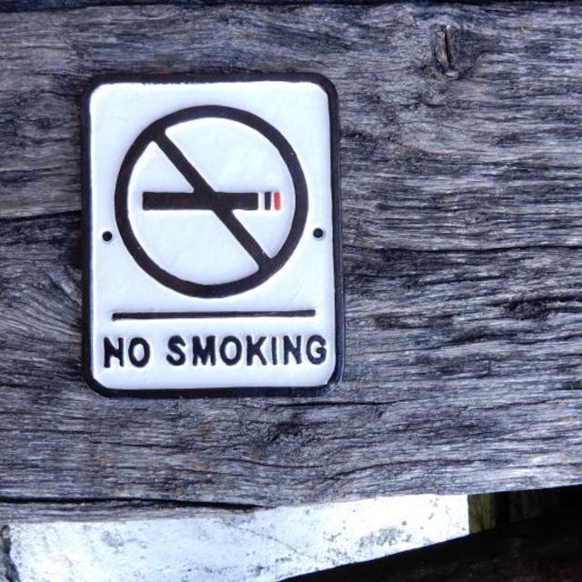 アイアンサインプレート NO SMOKING