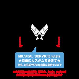 文字を自由にカスタム!U.S. AIR FORCE カッティングシート2【Mサイズ】