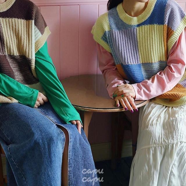 «先行予約割引»«Mardi Amber Ladies» Chelly Knit Vest チェリーニットベスト ママサイズ