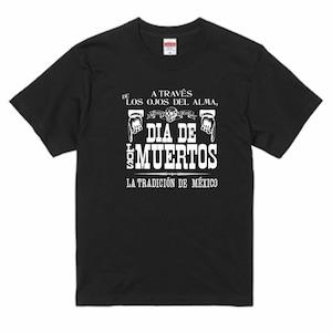 DIA DE LOS MUERTOS BLACK  死者の日のポスター 黒Tシャツ