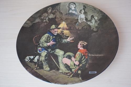ノーマンロックウェル 絵皿(114-25)