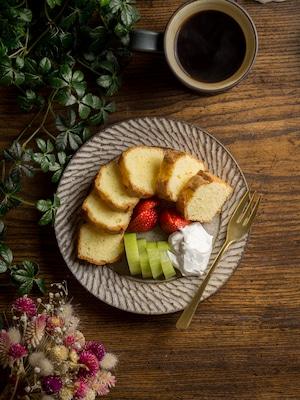 しのぎ リムプレート 白 6寸(取り皿・デザート皿・平皿)/山本雅則