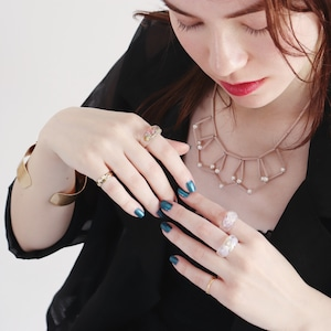 NECKLACE || 【通常商品】 GEOMETRIC NECKLACE (PINK) || 1 NECKLACE || PINK || FBA049