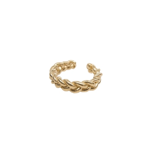 Ear cuff 'knitted' gold color