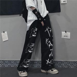 【ボトムス】ファッションストレート個性派カジュアルストリートプリントパンツ52628492