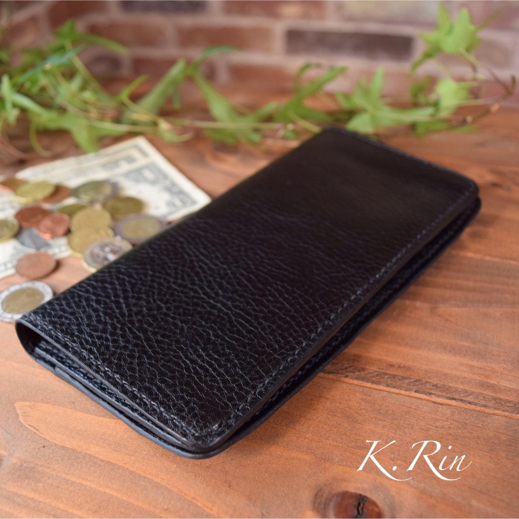 【オーダーメイド制作例】2つ折り長財布 ダブル スリットカード入れタイプ   (KA098b2)