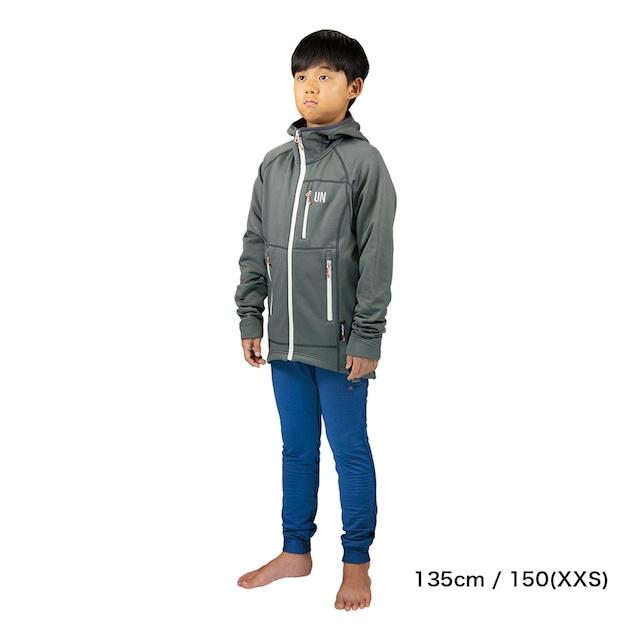 Kids 130 / UN3100 Mid weight fleece hoody / Red
