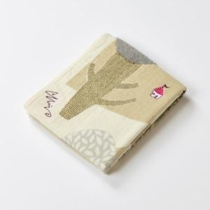 moritaMiW/森のわが家/フェイスタオル/グレー A-65603-31-GY