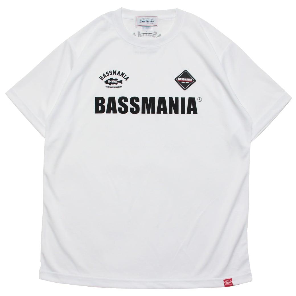 BASSMANIAロゴシリコンワッペンUV dry Tシャツ [WHT]