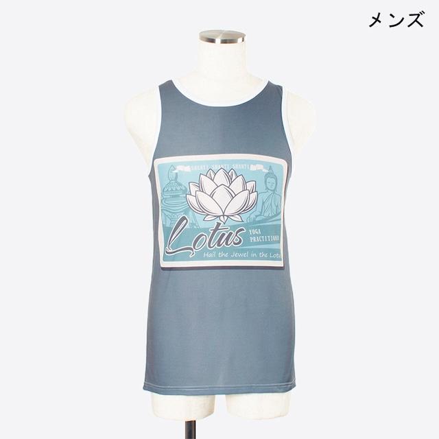 ヨガプリントタンク ロータス1 メンズ/ユニ Men's Yoga Print tank top Lotus1