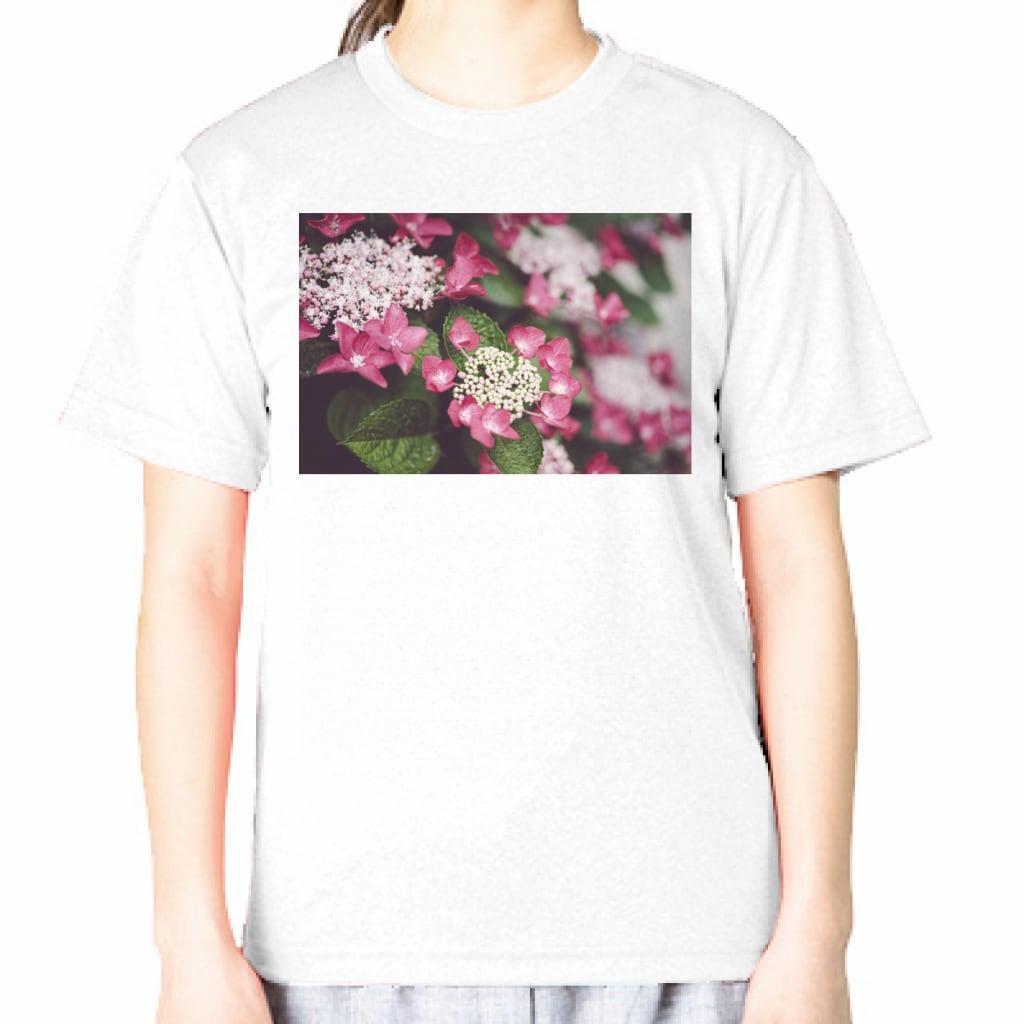 がく紫陽花 GLIMMER ドライ フォトTシャツ 4.4oz
