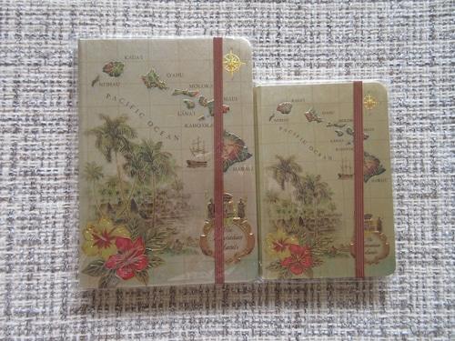 【アイランド  ヘリテージ】ISLAND HERITAGE バンド付きホイルノートブック手帳  小