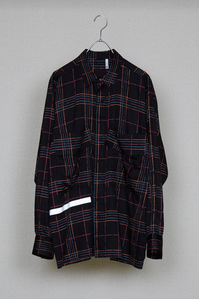 50%OFF【HUMIS】CHEMICAL FLY-FRONT SHIRT