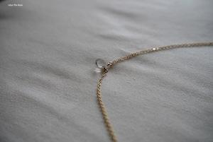 クリスタルクォーツ シンプルひと粒ネックレス
