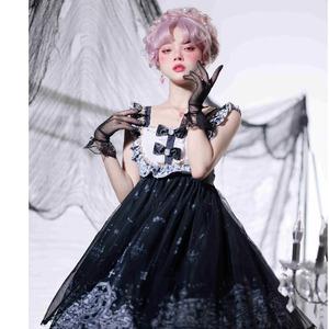 キャミソールワンピース ロリータ服 ゴスロリ ゴシック レース 白 ロリータ衣装 ドレス 可愛い ワンピース フリル 学生 lolita 9924