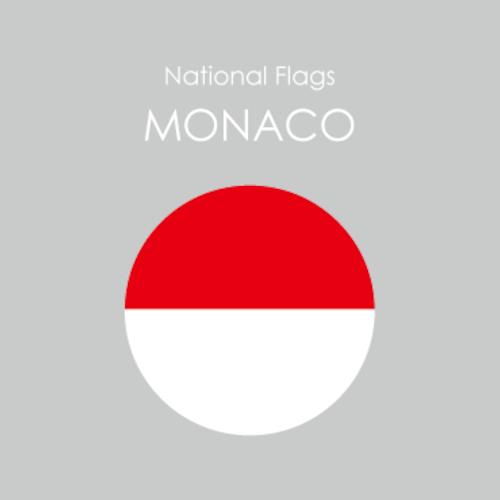 円形国旗ステッカー「モナコ」