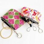 カッチ刺繍 ジッパーミニポーチ (全10種類)【フェアトレード商品】 【アップサイクル商品】