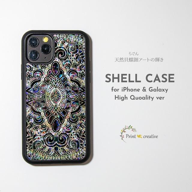 【iPhone13対応】天然貝シェル★エイシェントイスタンブール・ヴァイオレット(iPhone/Galaxyハイクオリティケース)|螺鈿アート