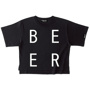 BEER 改行ロゴT ブラック(レディース)