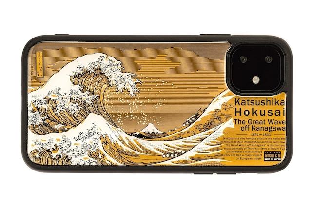 FLASH 神奈川沖浪裏 基板アート iPhone 11 ケース【東京回路線図A5クリアファイルをプレゼント】