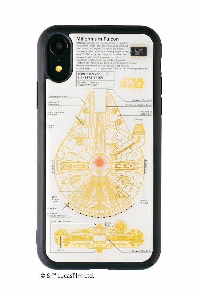 FLASH M-FALCON 基板アート iPhone XRケース 白【東京回路線図A5クリアファイルをプレゼント】