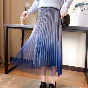 2色/ラメグラデーションプリーツスカート ・18702