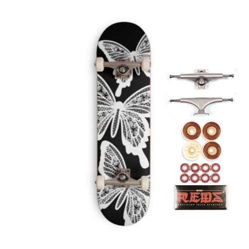 White Butterfly スケートボードコンプリートプレミアム