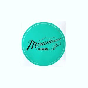 Mountain オリジナルロゴ サークルステッカー /  ミント