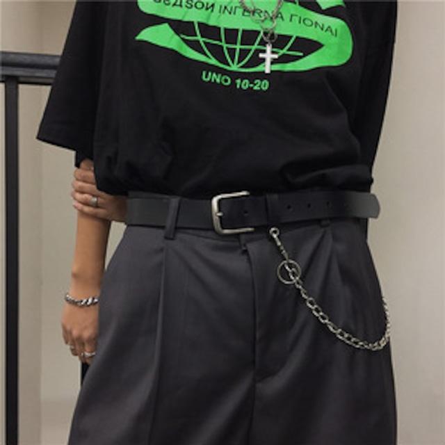 【小物】韓国風ファッションレトロ鉄鎖付きベルト43204018