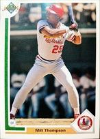 MLBカード 91UPPERDECK Milt Thompson #309 CARDINALS