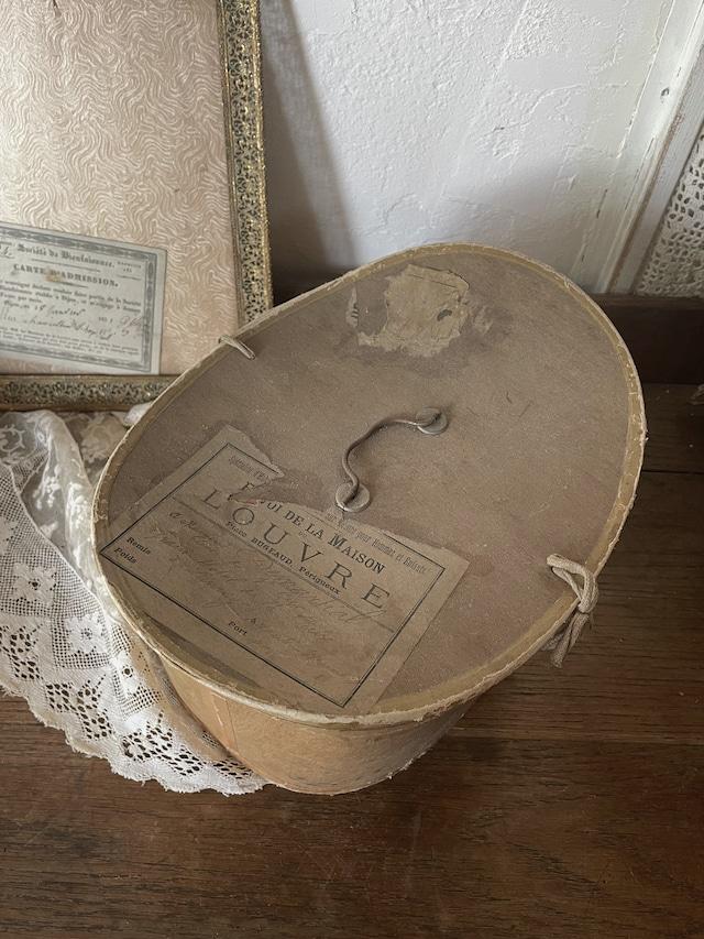 フランス ハットボックス 帽子 紙箱