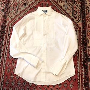【USED】ポロ ラルフローレン ドレスシャツ カフス タック 長袖 ロングスリーブ ホワイト 白