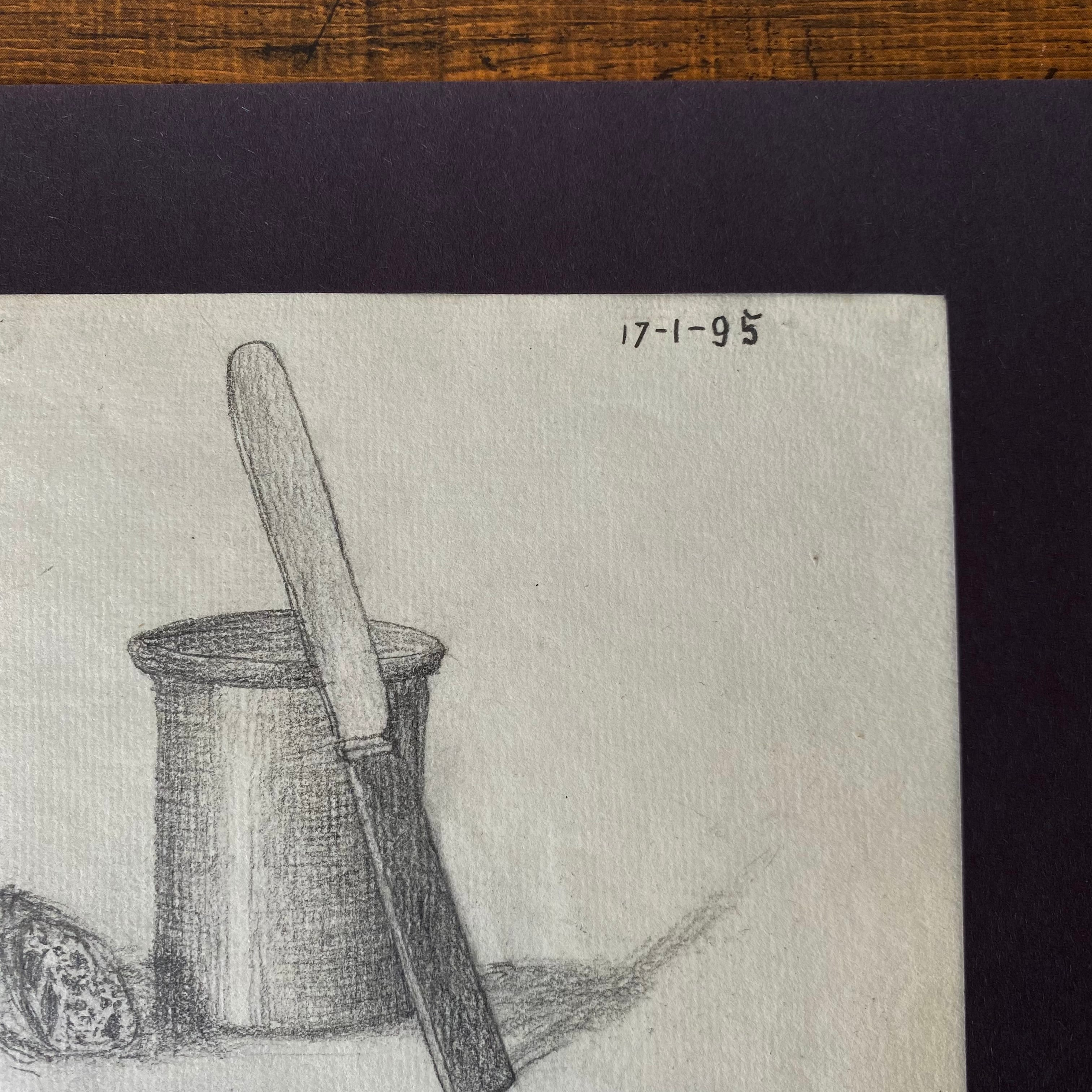 France デッサン ・パテポットとナイフ、そしてパン /  vp0254